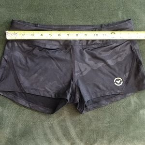 Black Camo Virus Workout Shorts